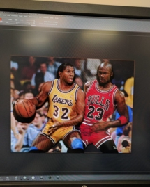 Magic And Jordan Photo Extrusion