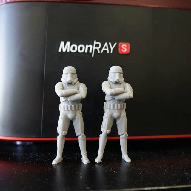 Printed these mini hiphoptrooper with sprintray moonray printer Going tohellip