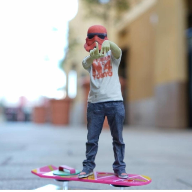 Repping my city On my hoverboard rocking hiphoptrooper helmet hellip