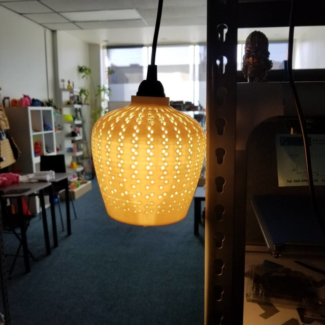 3d printed this lamp cover for a client Happy Mondayhellip