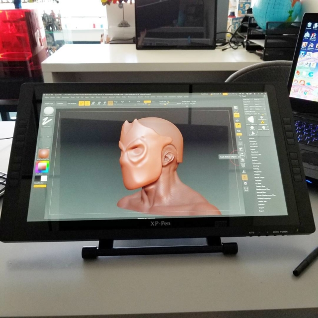 Playing with the xppen 22E Tablet monitor Alternative to wacomhellip