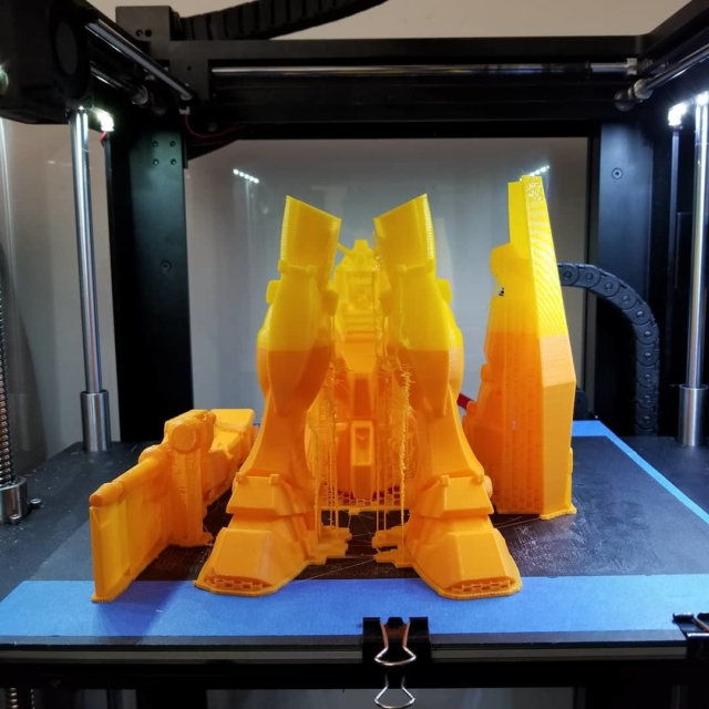 Gundam 3d printed all done after 26hr   hellip